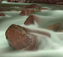 Avalanche Creek II, Glacier NP by Fred Frank