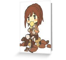 Chibi Sasha Blouse (Attack on Titan Potato Girl) Greeting Card