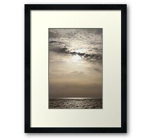 Alive Lights - Bay of Arcachon, France.  Framed Print