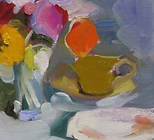 Still Life with Yellow Cup by Linda Hunt