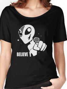 Alien Believe Space Sci Fi Women's Relaxed Fit T-Shirt