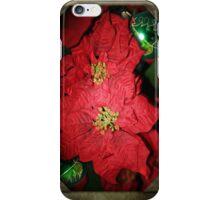 Christmas Poinsettias iPhone Case/Skin
