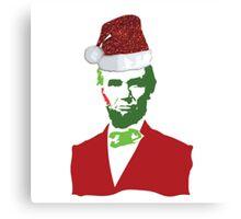 Merry Christmas, Abe! Canvas Print