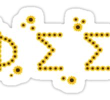 Phi Sigma Sigma Sunflowers Sticker