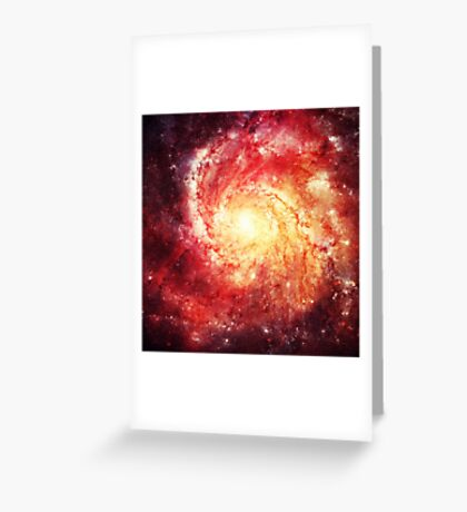 Deep Space Galaxy (Messier 101 Remix) Greeting Card