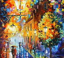 Lights In The Night - Leonid Afremov by Leonid Afremov
