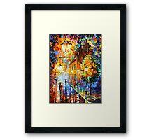 Lights In The Night - Leonid Afremov Framed Print