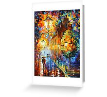 Lights In The Night - Leonid Afremov Greeting Card