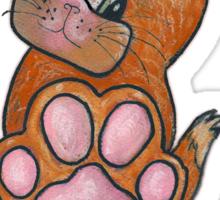 Talk to Da Paw - Kitty Sticker