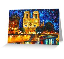 NOTRE DAME DE PARIS - Leonid Afremov CITYSCAPE Greeting Card