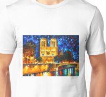 NOTRE DAME DE PARIS - Leonid Afremov CITYSCAPE Unisex T-Shirt