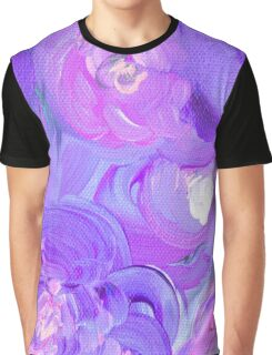 Bright Abstract Floral - Purple Graphic T-Shirt