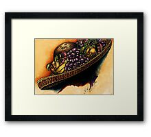 Hat with Fruit Framed Print