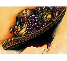 Hat with Fruit Photographic Print