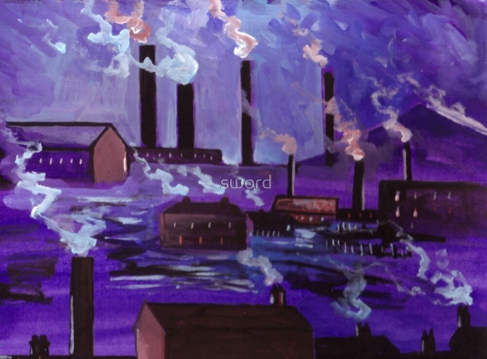 Industrial scene (from my original acrylic painting ) by sword