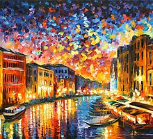 VENICE - GRAND CANAL - Leonid Afremov CITYSCAPE by Leonid Afremov