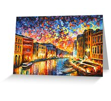 VENICE - GRAND CANAL - Leonid Afremov CITYSCAPE Greeting Card