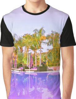 Neon Love Luxe and swimming pool Graphic T-Shirt