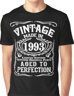 Vintage Made in 1993 Limited edition Genuine original parts Aged to perfection Graphic T-Shirt