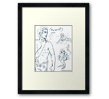 Mer!Zayn- Original Line Framed Print