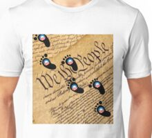Obama Walks Over Our Constitution Shirt, Sticker, Mug, Cases, Totes, Poster, Cards Unisex T-Shirt