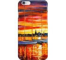 HELSINKI - SAILBOATS AT YACHT CLUB - Leonid Afremov CITYSCAPE iPhone Case/Skin
