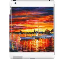 HELSINKI - SAILBOATS AT YACHT CLUB - Leonid Afremov CITYSCAPE iPad Case/Skin