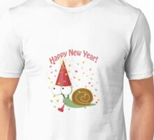 Happy New Year Snail Unisex T-Shirt