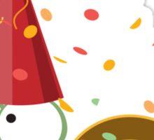 Happy New Year Snail Sticker