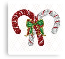 Battle of the Candy Canes Canvas Print