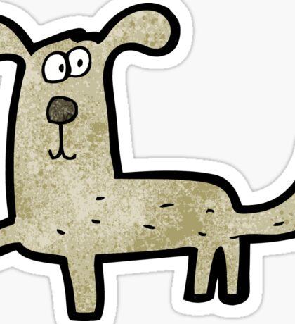 cartoon dog Sticker