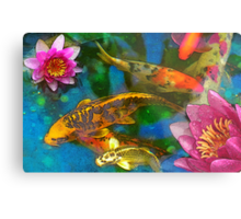 Koi Play Metal Print