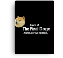 Dawn of the Final Doge Canvas Print