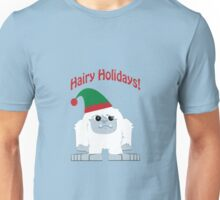Hairy Holidays! Yeti Unisex T-Shirt