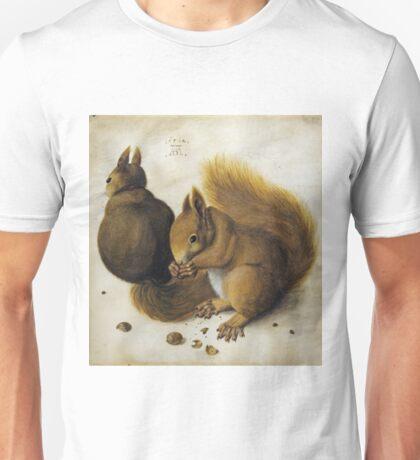 Albrecht Durer - Two Squirrels, One Eating A Hazelnut Unisex T-Shirt