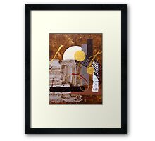 African Moon Framed Print