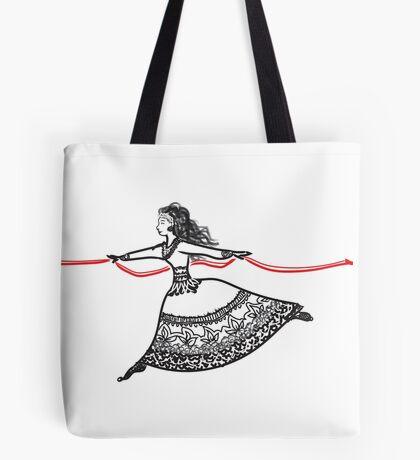 Ribbon Dancer Tote Bag