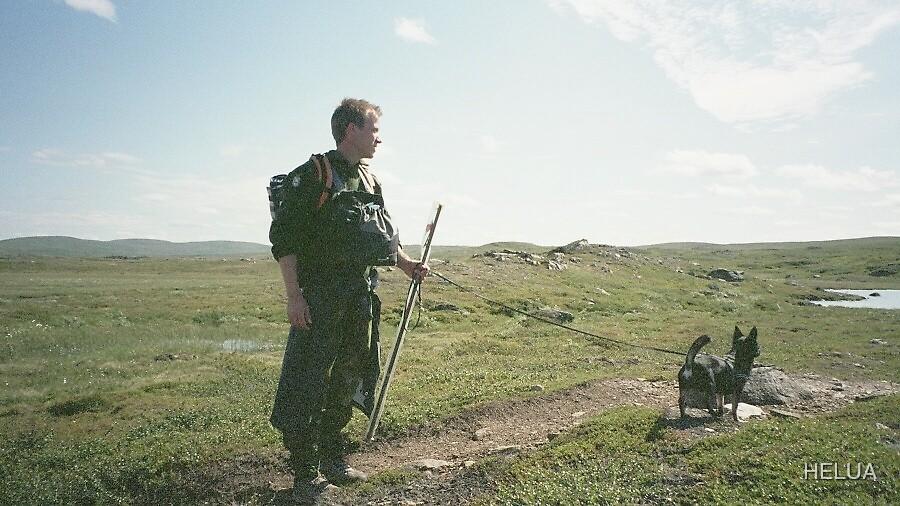 """Aragorn"" walking his Dog by HELUA"