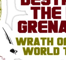 Destro And The Iron Grenadiers World Tour '88 Sticker