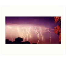Lightning never strikes twice Art Print