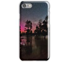 Southern Aurora and Galaxy over Lake Fyans  iPhone Case/Skin