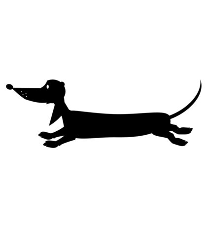 "minidoxie ""Lino running"" Sticker"