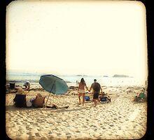 Beach Couple by Barbara Gordon