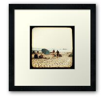 Beach Couple Framed Print