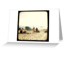 Beach Couple Greeting Card