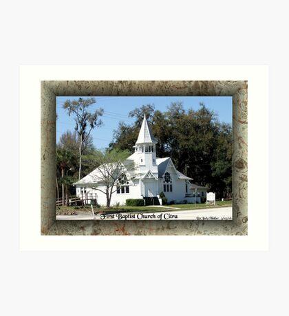 Citra First Baptist Church Art Print