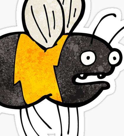 cartoon fat bumble bee Sticker