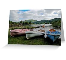 Boats on Grasmere Greeting Card