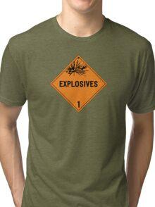 HAZMAT Class 1: Explosives Tri-blend T-Shirt