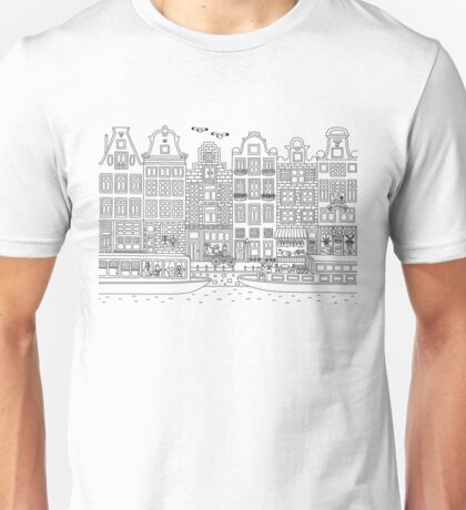 Amsterdam for Coloring Unisex T-Shirt